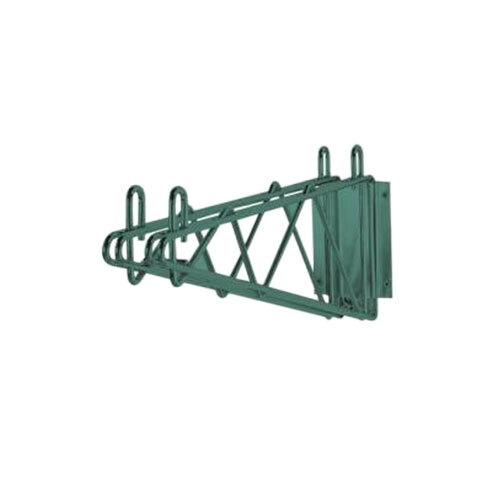 Advance Tabco GDB-18 18 inch Deep Double Wall Mounting Bracket for Adjoining Green Epoxy Coated Wire Shelves