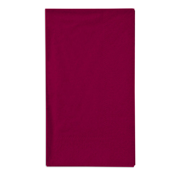 Hoffmaster 180524 Burgundy 15 inch x 17 inch Paper Dinner Napkins 2-Ply - 1000/Case