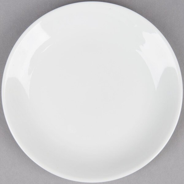 Coupe Bright White 6 inch China Round Plate - 36 / Case