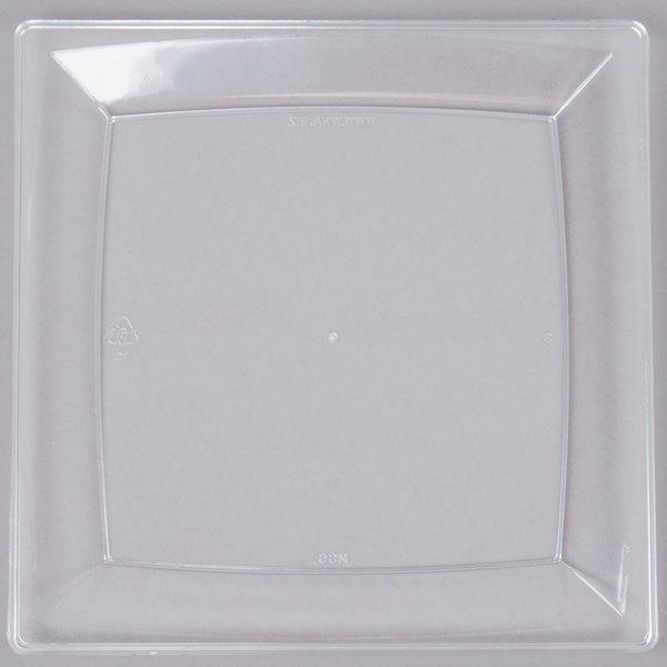 WNA Comet MS6CL 5 1/4 inch Clear Square Milan Plastic Dessert Plate - 168/Case