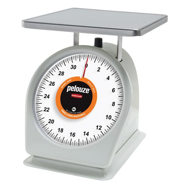 Rubbermaid Pelouze 832W 32 oz. Portion Scale - 9 inch x 9 inch Platform (FG832W)