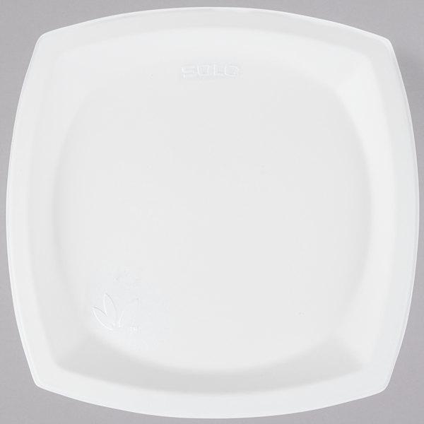 Dart Solo 10PSC-2050 Bare 10 inch Square Compostable Sugarcane Plate - 500/Case