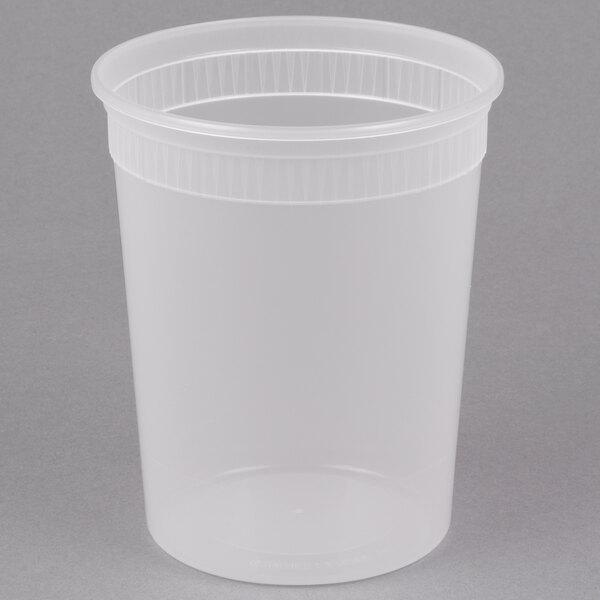 Newspring SD5032Y 32 oz. Translucent Round Deli Container  - 480/Case