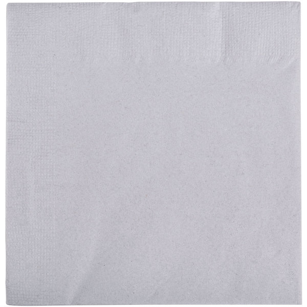 Choice 10 inch x 10 inch Customizable Silver / Gray 2-Ply Beverage / Cocktail Napkins - 1000 / Case