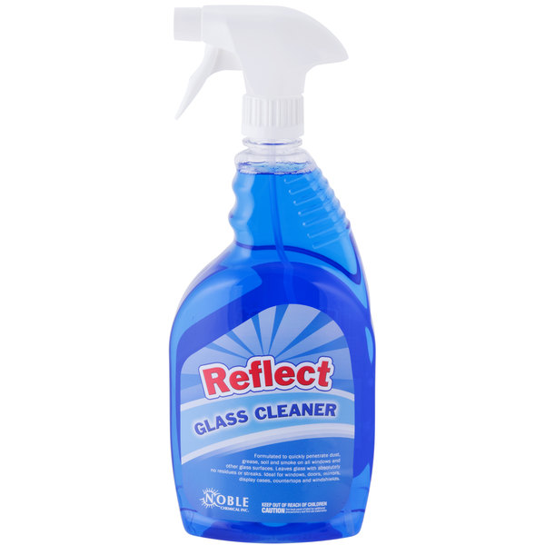 Noble Chemical 1 Qt. Reflect Glass Cleaner - Ecolab® 25798 Alternative - 12/Case
