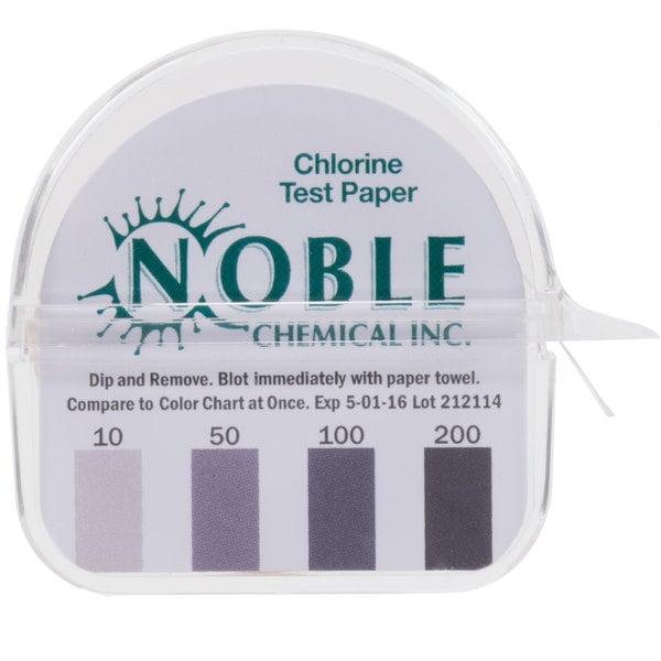 Noble Chemical CM-240 Chlorine Test Paper Dispenser - 10-200ppm