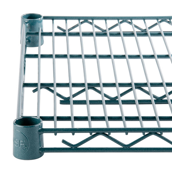 Regency 24 inch x 72 inch NSF Green Epoxy Wire Shelf