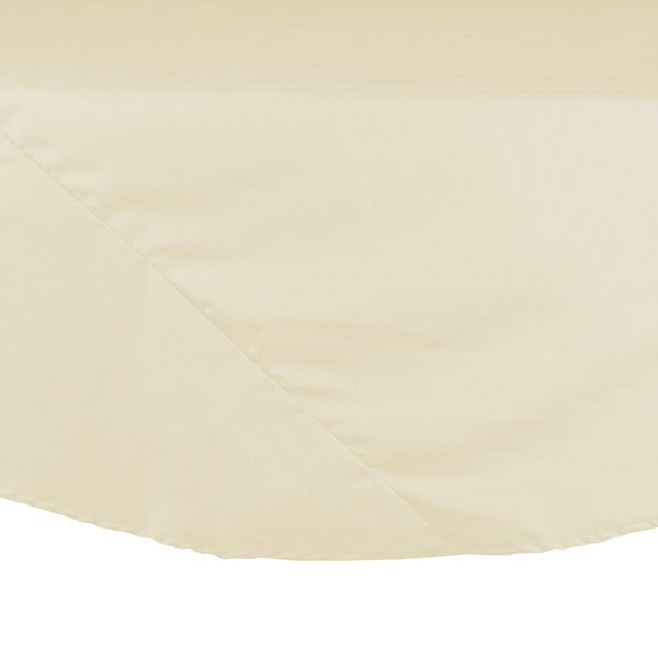 72 inch Ivory Round Hemmed Polyspun Cloth Table Cover