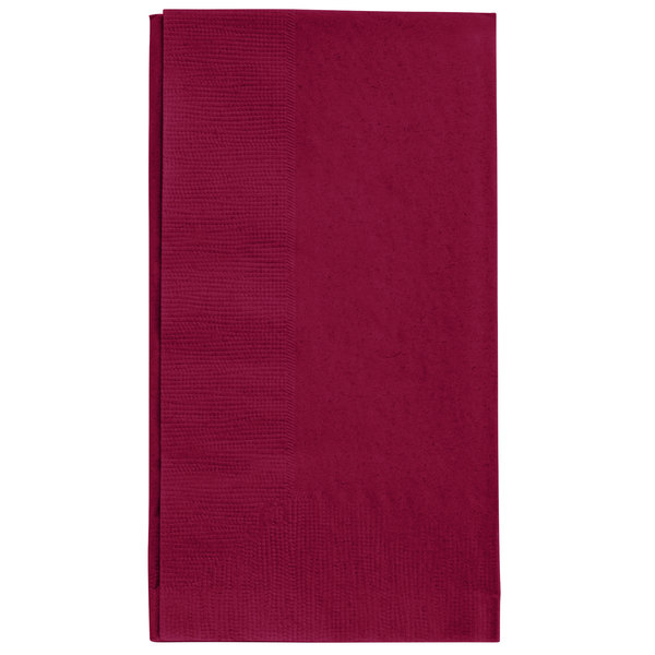 Choice 15 inch x 17 inch Customizable Burgundy 2-Ply Paper Dinner Napkin - 1000/Case