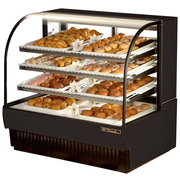 True TCGD-50 50 inch Black Dry Bakery Display Case - 23.8 Cu. Ft.