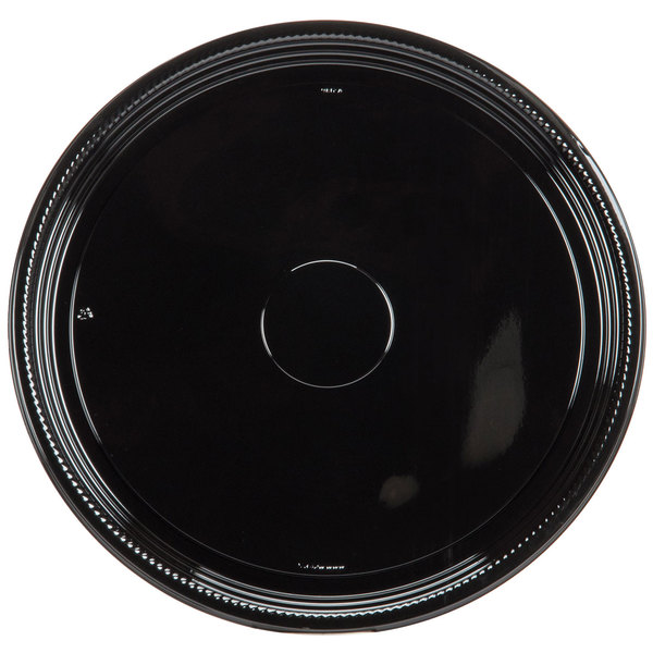 WNA Comet A518PBL Caterline Casuals 18 inch Black Round Catering Tray - 25/Case