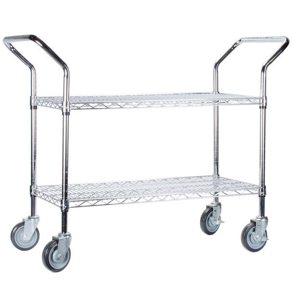 Regency 18 inch x 24 inch Two Shelf Chrome Heavy Duty Utility Cart