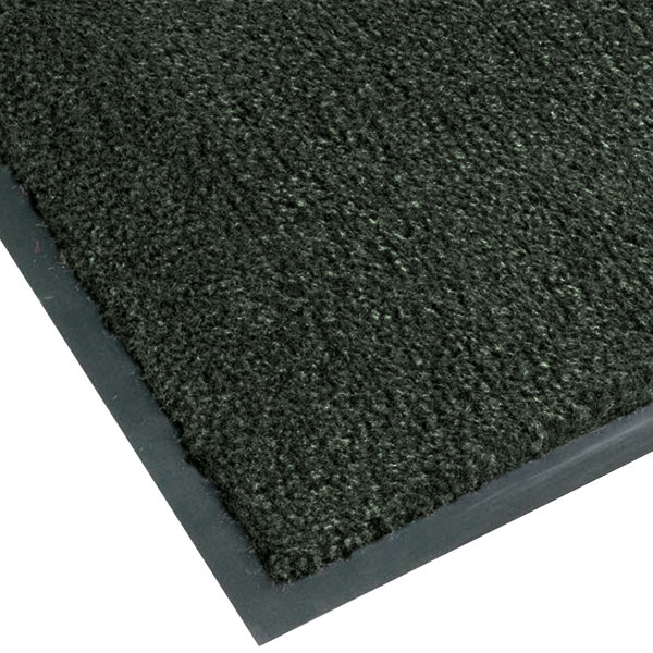 Teknor Apex NoTrax T37 Atlantic Olefin 4468-119 3' x 10' Forest Green Carpet Entrance Floor Mat - 3/8 inch Thick