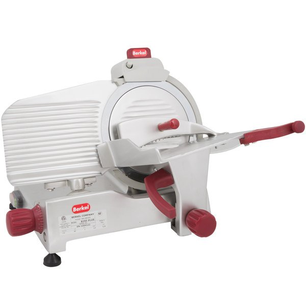 Berkel 825E-PLUS 10 inch Manual Gravity Feed Meat Slicer - 1/4 hp