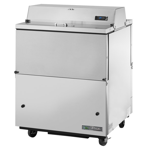 True TMC-34-S-DS-SS 34 inch Stainless Steel Two Sided Milk Cooler with Stainless Steel Interior