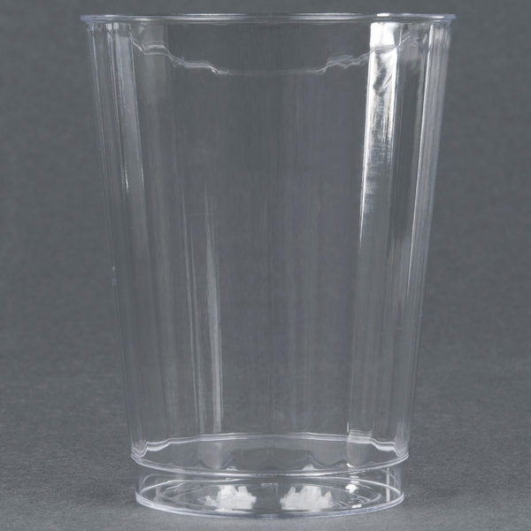 WNA Comet CC10240 Classicware 10 oz. Tall Clear Plastic Fluted Tumbler  - 20/Pack