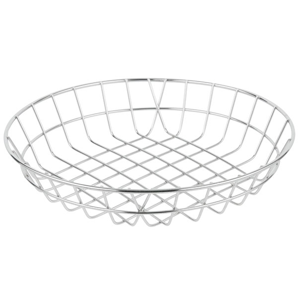 American Metalcraft WISS10 Stainless Steel Round Wire Basket 10 inch