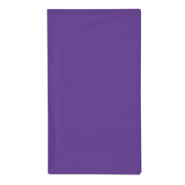 Hoffmaster 180539 Purple 15 inch x 17 inch Paper Dinner Napkins 2-Ply - 1000 / Case