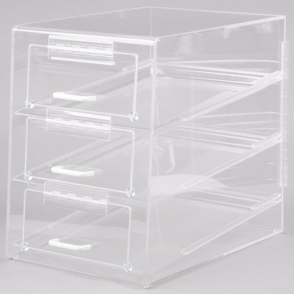 Cal-Mil 124 Classic Three Tier Front Access Pastry Display Case - 13 1/2 inch x 20 inch x 18 inch