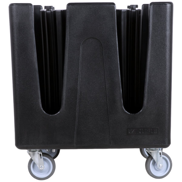 Carlisle ADS403 Optimizer Adjustable Small Dish Dolly with 4 Dividers