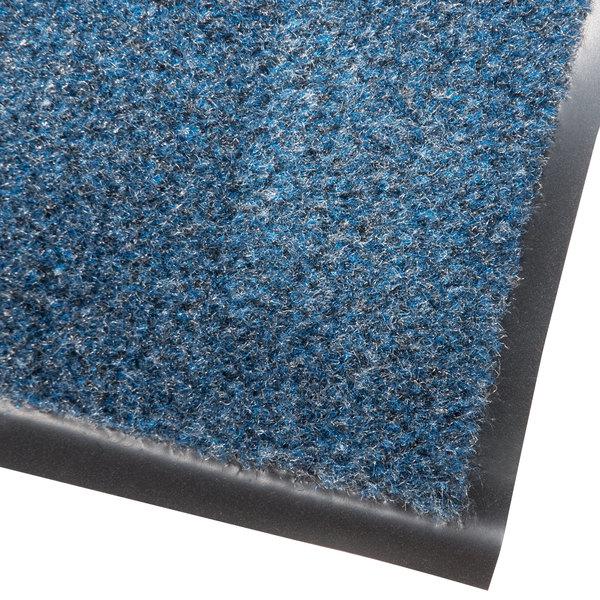 Cactus Mat 1437M-U34 Catalina Standard-Duty 3' x 4' Blue Olefin Carpet Entrance Floor Mat - 5/16 inch Thick