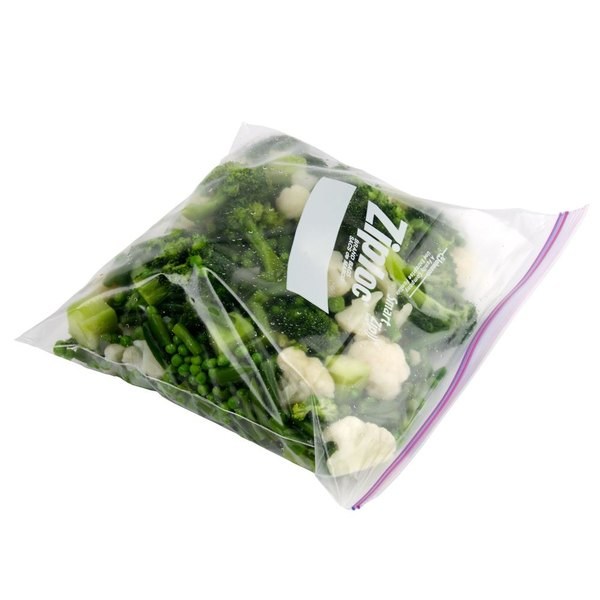Diversey Ziploc 10 9/16 inch x 10 3/4 inch One Gallon Freezer Bags with Double Zipper and Write-On Label 250 / Case