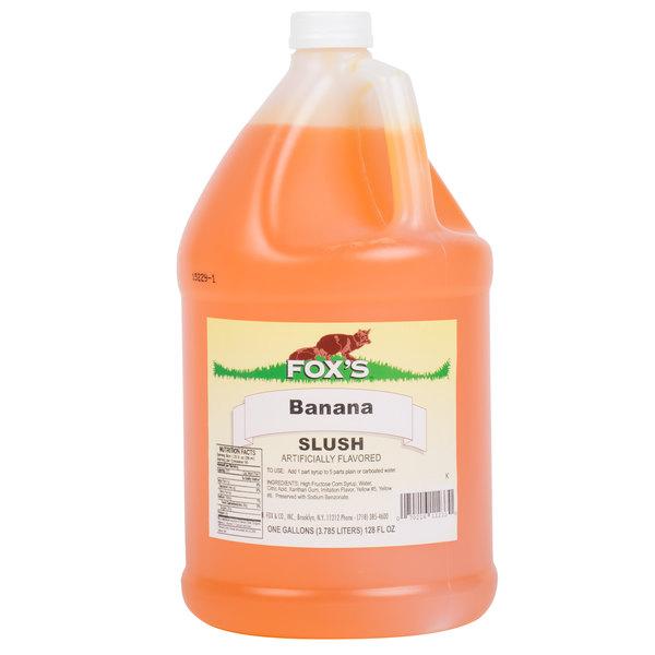 Fox's 1 Gallon Banana Slush Syrup  - 4/Case