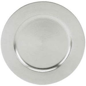 Tabletop Classics TRS-6651 13 inch Silver Round Acrylic Charger Plate