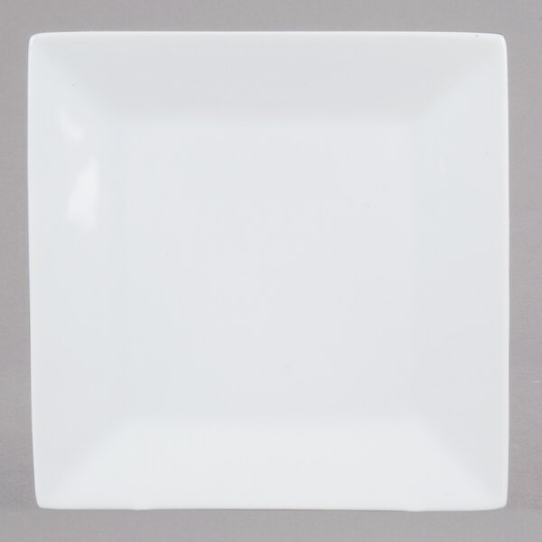 Core 6 inch Bright White Square China Plate - 36/Case