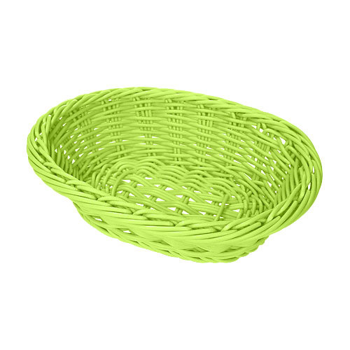 GET WB-1503-G 9 inch x 6 3/4 inch x 2 1/2 inch Designer Polyweave Green Oval Basket - 12/Case