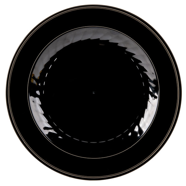 WNA Comet MP75BKGLD Black Masterpiece Plate with Gold Accent Bands -7 1/2 inch 150 / Case