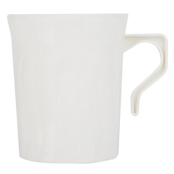 Fineline Flairware 208-BO Bone / Ivory 8 oz. Plastic Coffee Mug 288 / Case