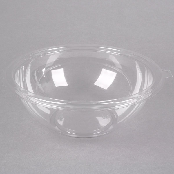 Fineline Super Bowl 5080-CL 80 oz. Clear Plastic Bowl - 25/Case