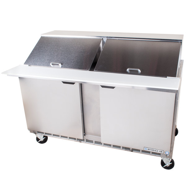 Beverage-Air SPE60-24M 60 inch Two Door Mega Top Refrigerated Salad / Sandwich Prep Table