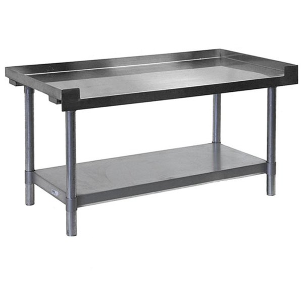 APW Wyott SSS-60L 16 Gauge Stainless Steel 60 inch x 24 inch Medium Duty Cookline Equipment Stand with Galvanized Undershelf