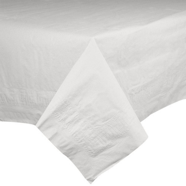 Hoffmaster 210046 54 inch x 54 inch Cellutex White Tissue / Poly Paper Table Cover - 50/Case