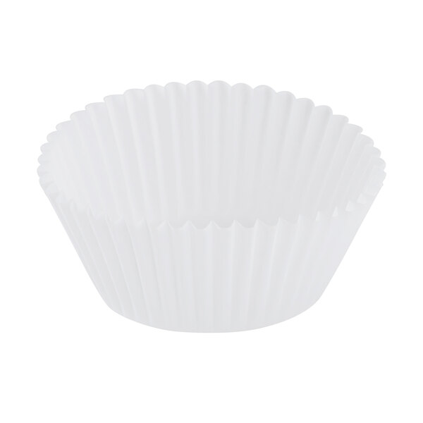 Hoffmaster 610032 2 inch x 1 1/4 inch White Fluted Baking Cup 10,000/Case