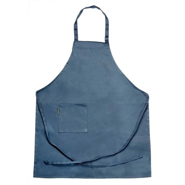 Chef Revival 601BAC-NV Customizable Full-Length Navy Blue Bib Apron - 30 inchL x 34 inchW