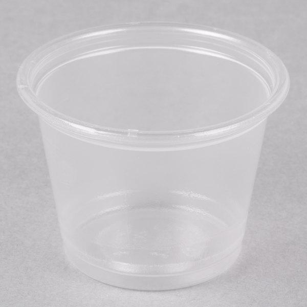 Dart Solo Conex Complements 100PC 1 oz. Translucent Plastic Souffle / Portion Cup  - 2500/Case