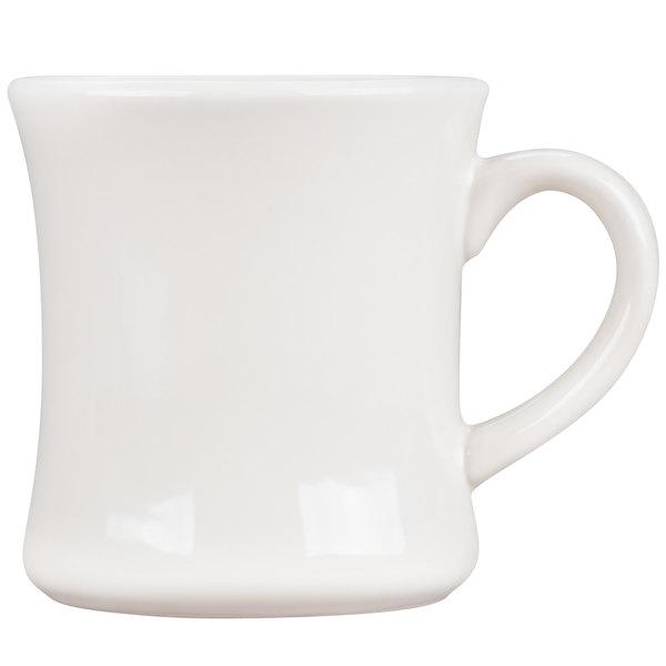 Core 11 oz. Ivory (American White) Victor China Coffee Mug  - 36/Case