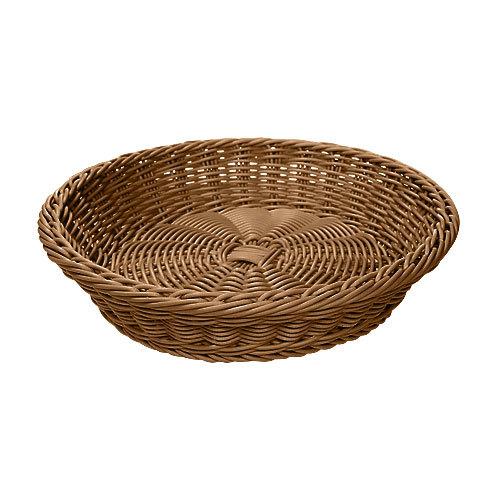 GET WB-1502-H 11 1/2 inch x 2 3/4 inch Designer Polyweave Honey Round Basket - 12/Case