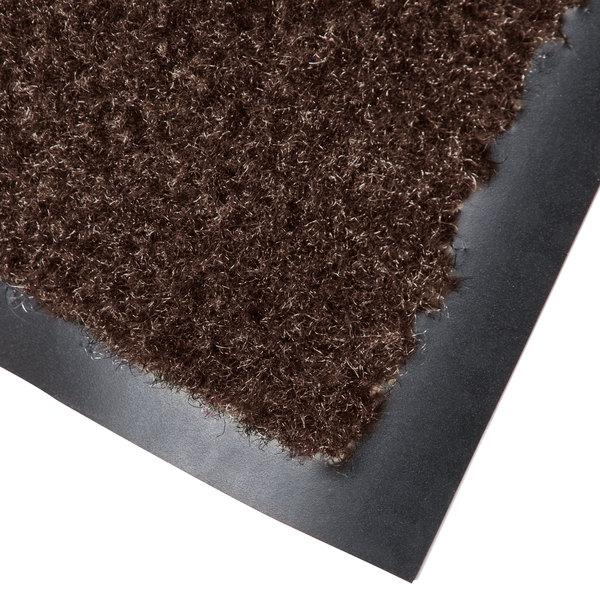 Cactus Mat 1437M-B34 Catalina Standard-Duty 3' x 4' Brown Olefin Carpet Entrance Floor Mat - 5/16 inch Thick