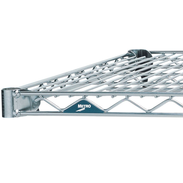 Metro 1448BR Super Erecta Brite Wire Shelf - 14 inch x 48 inch