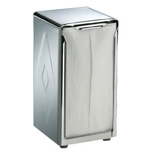 San Jamar H900X Tallfold Two-Sided Tabletop Napkin Dispenser - Stainless Steel