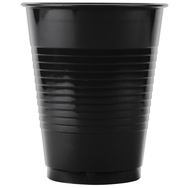 Creative Converting 28134081B 16 oz. Black Velvet Plastic Cup - 600/Case