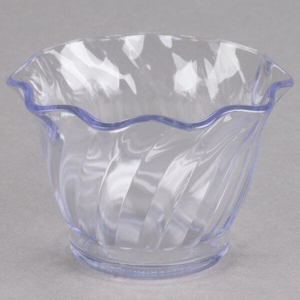 Cambro SRB5CW135 5 oz. Clear Camwear Polycarbonate Swirl Bowl - 24/Case