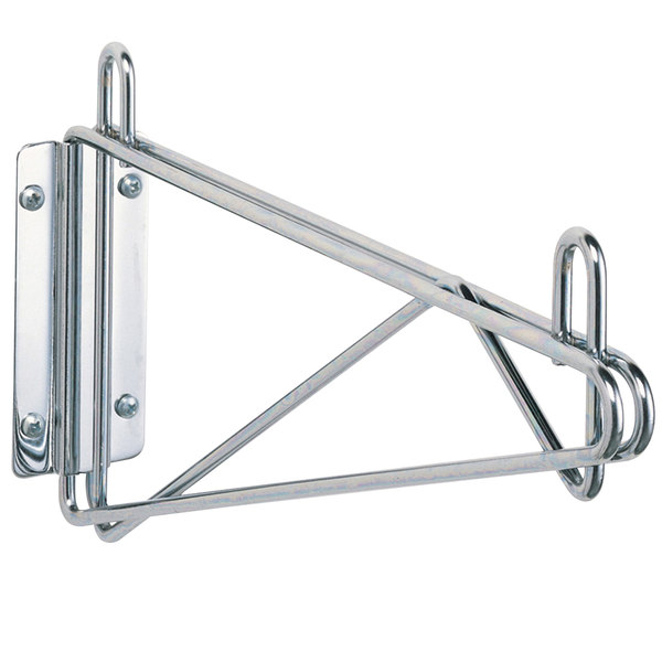 Metro 1WD14C Super Erecta Chrome Single Direct Wall Mount Bracket for 14 inch Shelf
