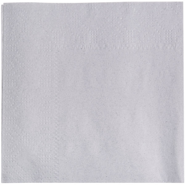 Hoffmaster 180318 Dove Gray Beverage / Cocktail Napkin - 1000/Case
