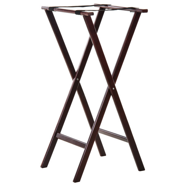 Tablecraft 22 Mahogany Tray Stand - 38 inch