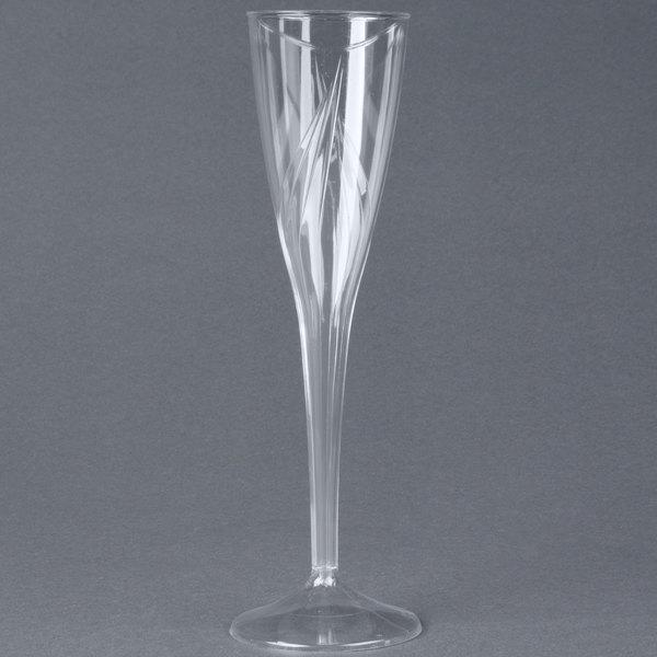 WNA Comet CWSC5 5 oz. Clear Plastic Classicware Champagne Glass - 100/Case
